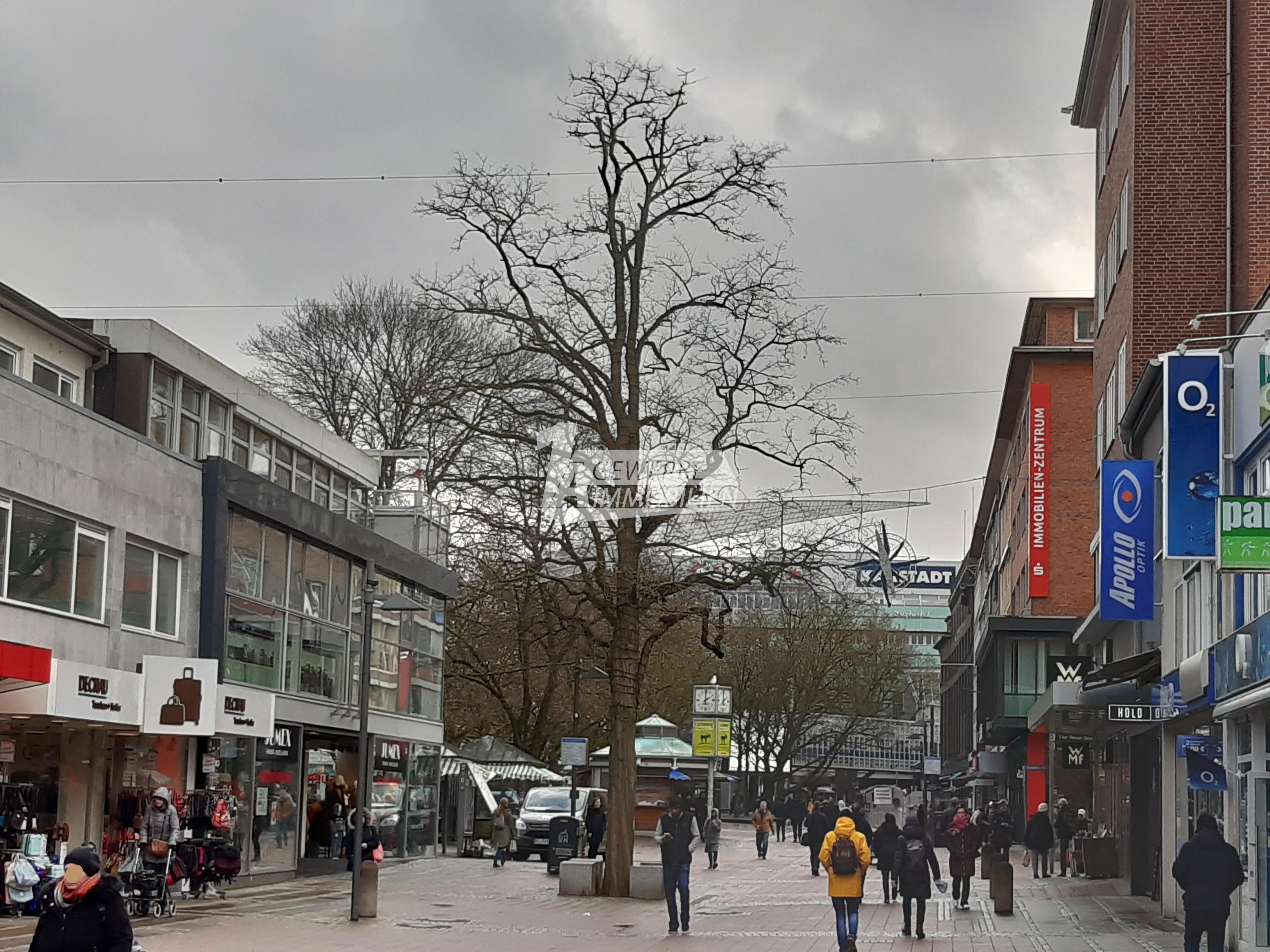 Ladenfläche in der Kieler Fußgängerzone